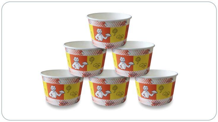 Karton Çorba ve Yemek Kabı 16 OZ (Kapaklı)