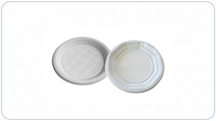 Plastik Tabak Beyaz