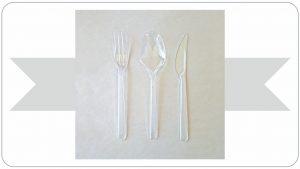 Pvc Şeffaf  Lux Çatal, Kaşık, Bıçak