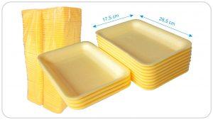Mod 16 Sarı Köpük Tabak 100  Adet